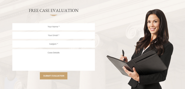 modern legal site design